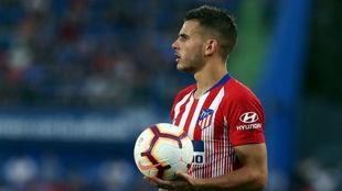 Lucas, durante el Getafe-Atlético.
