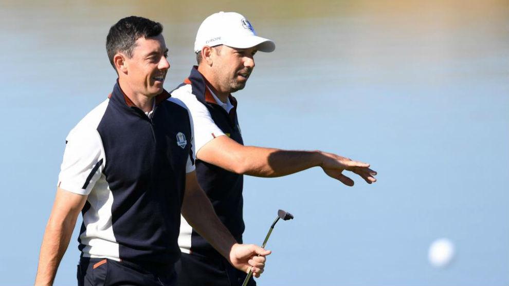 Sergio García y Rory McIlroy.