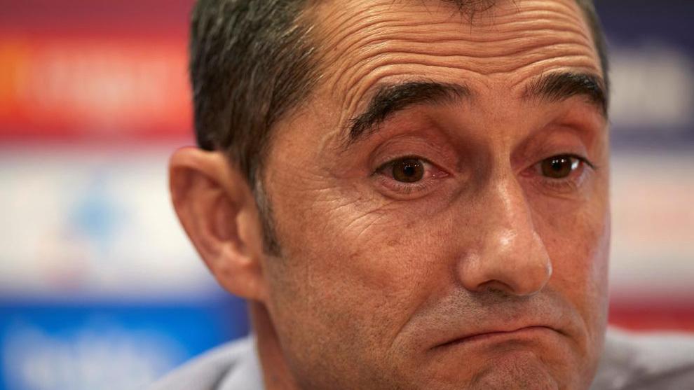 Valverde, en una rueda de prensa