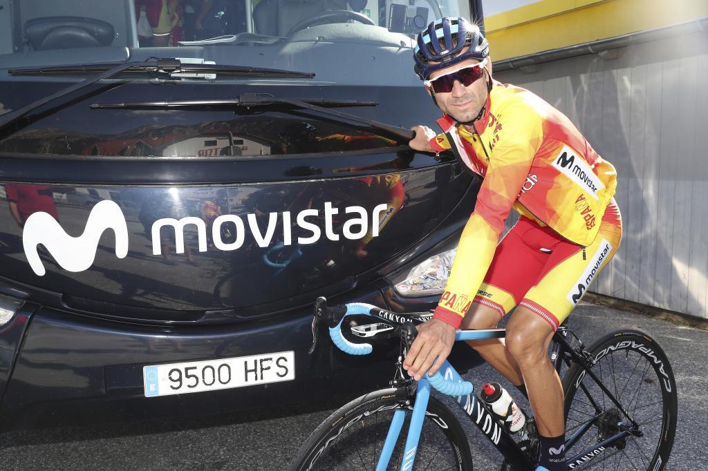 Alejandro Valverde, antes de un entrenamiento en Austria.