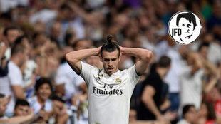 Bale, durante el partido ante el Atlético.