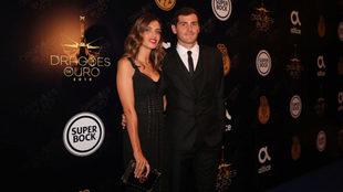 Iker Casillas y Sara Carbonero, antes de la gala del 'Dragón de...