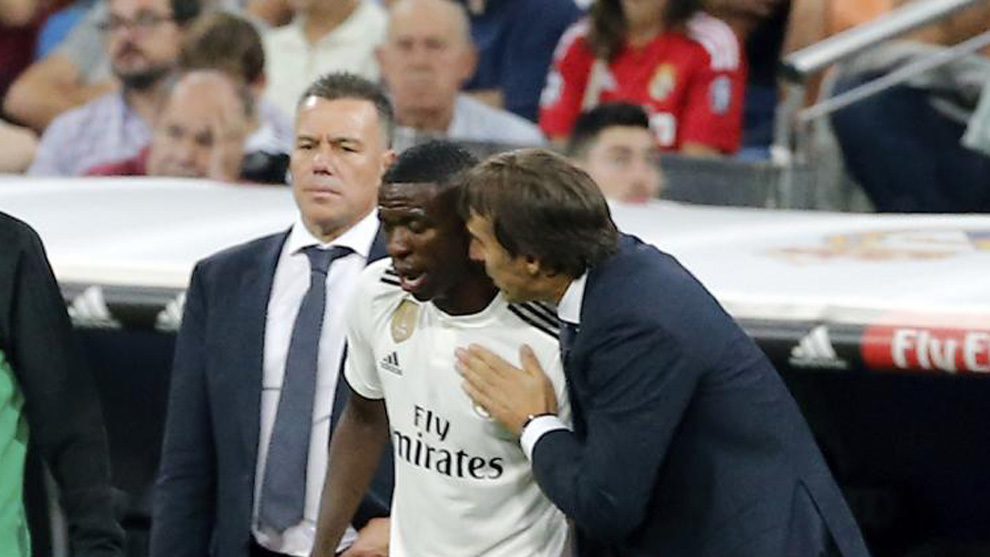 Vinicius Junior and Lopetegui