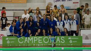 El Sabadell celebra el título tras ganar la final