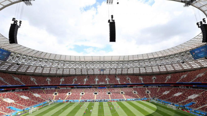Imagen panorámica del Luzhniki