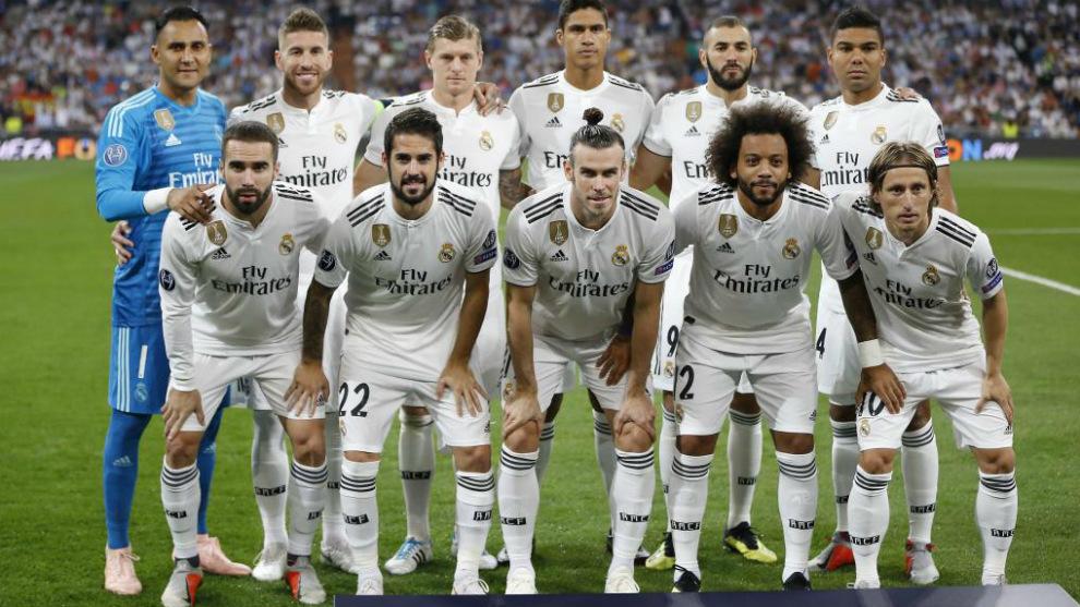Primer once inicial del Real Madrid en la Champions League 2018-19