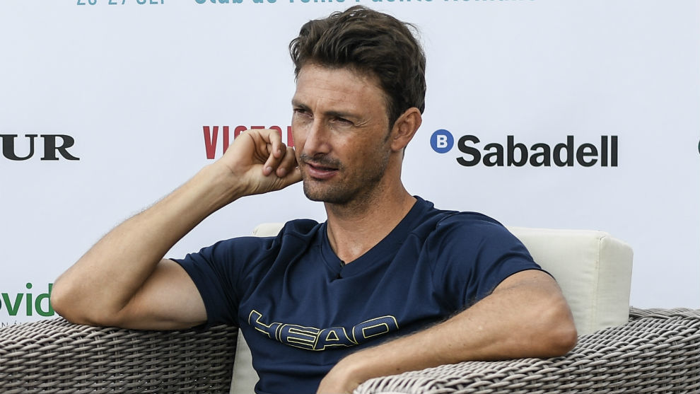 Ferrero, durante la entrevista