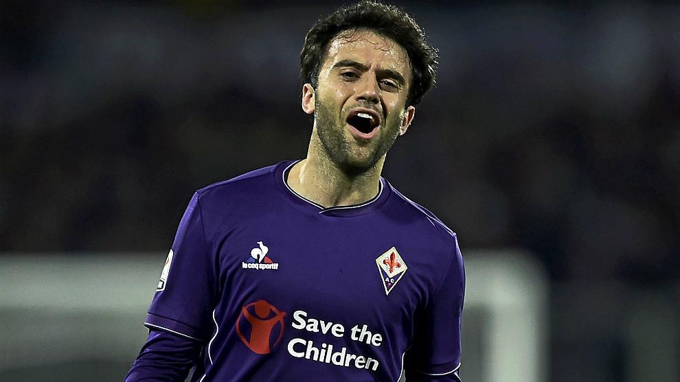 Rossi, durante su etapa en la Fiorentina