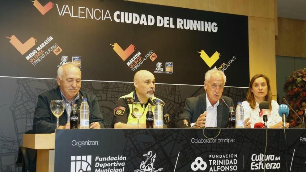 Rueda de prensa de la presentación del Maratón de Valencia.