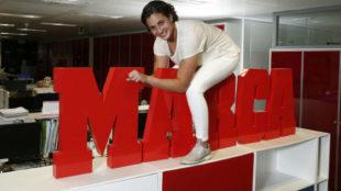 Ana Carrasco, durante su visita a MARCA esta tarde