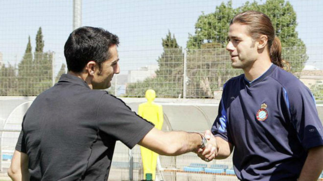 Ernesto Valverde and Mauricio Pochettino, in 2006.