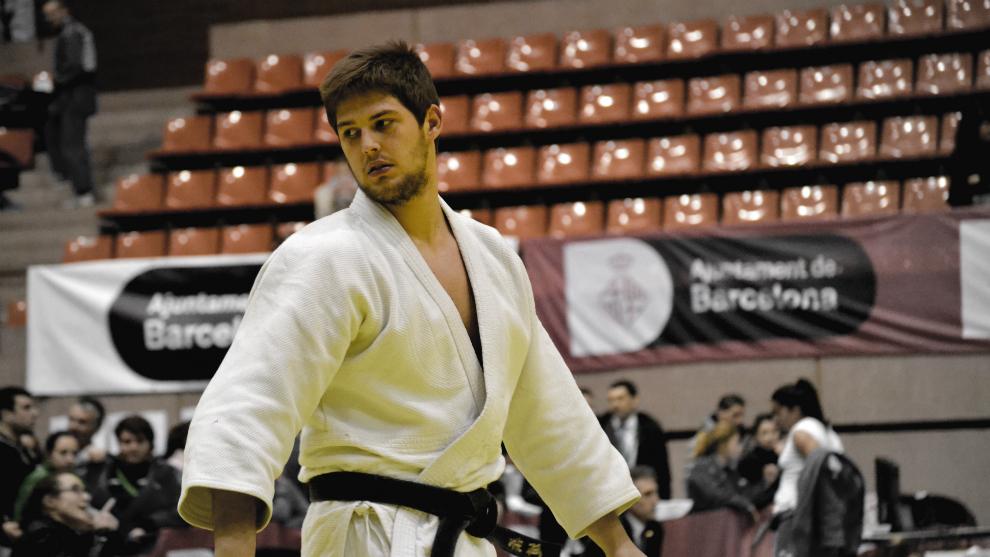 Marc Fortuny, durante una competición