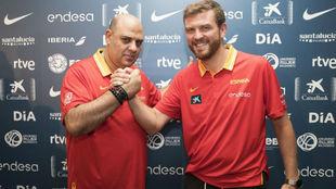 Lucas Mondelo y César Rúperez, primer y segundo entrenador de la...