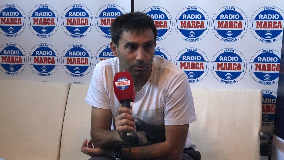 Asier Garitano durante la entrevista.