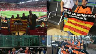 Peñas del Valencia CF en Old Trafford