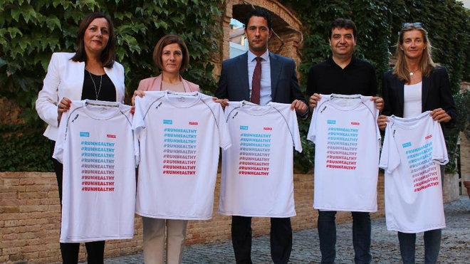 Presentación de la camiseta de la Sanitas MARCA Running Series...