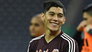 Gerardo Arteaga durante el entrenamiento de la selección mexicana
