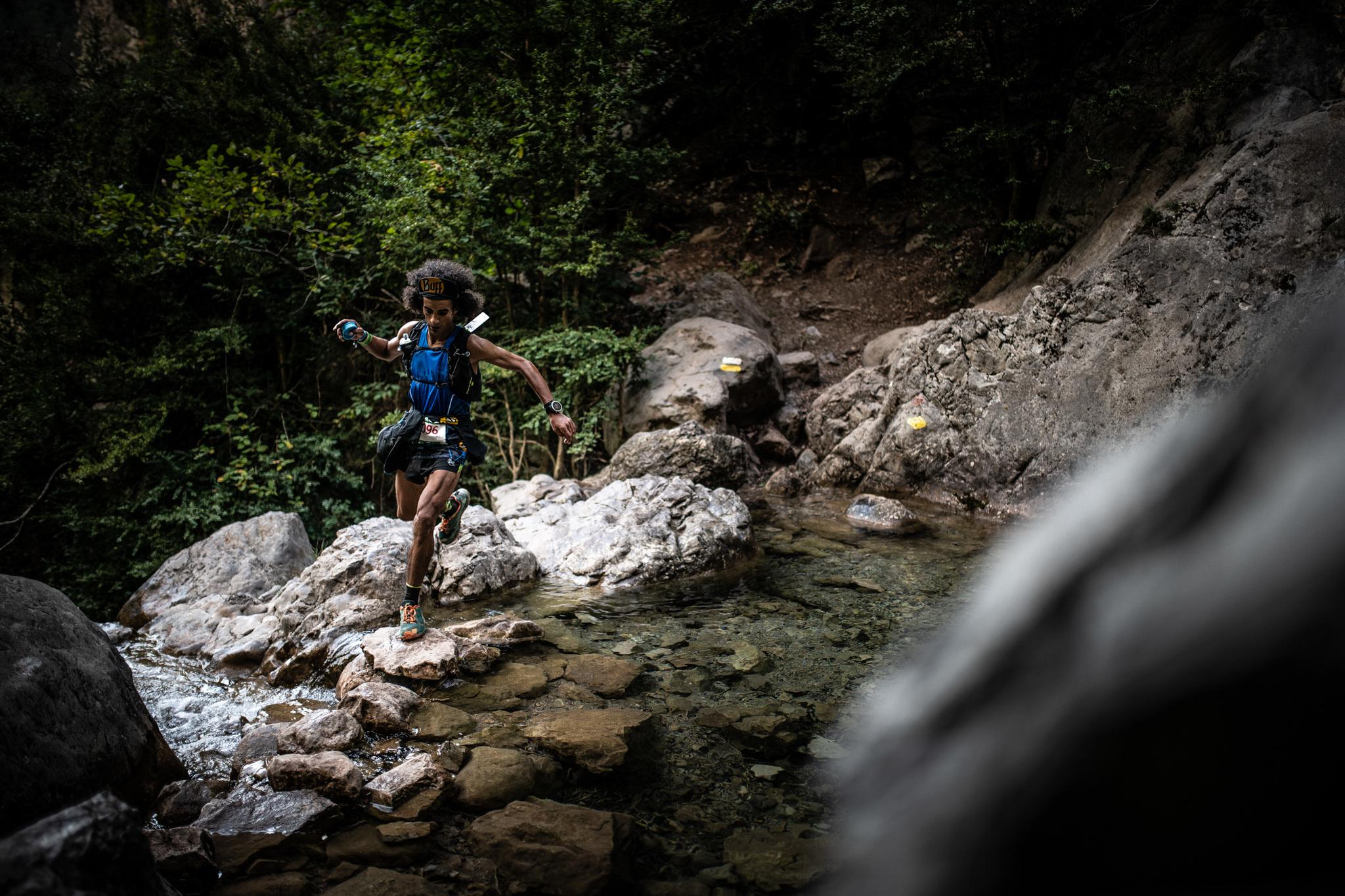 Zaid Ait Malek, durante el recorrido de Ultra Pirineu.