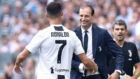 Allegri saluda a CR7.