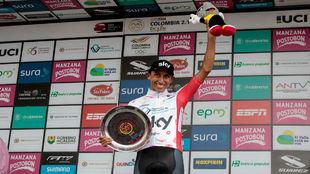 Egan Bernal, ganador de la Colombia Oro y Paz en Manizales.