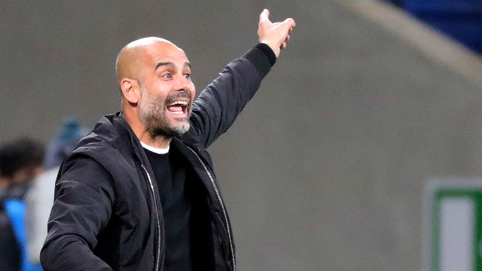 Pep Guardiola during the Champions League match against Hoffenheim