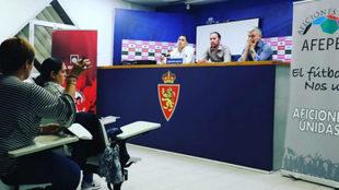 Reunión de Peñas del Real Zaragoza con LaLiga y Aficiones Unidas