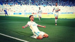 Dani Ceballos marcó sus dos primeros goles como jugador del Real...