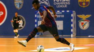 Arthur, durante un partido en esta UEFA Futsal Champions League.