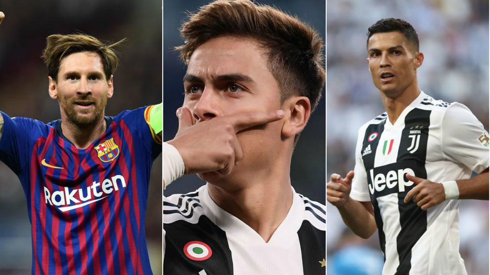 Messi, Dybala and Cristiano Ronaldo.