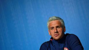 Ryan Lochte, en una rueda de prensa previa a los Juegos Olímpicos de...