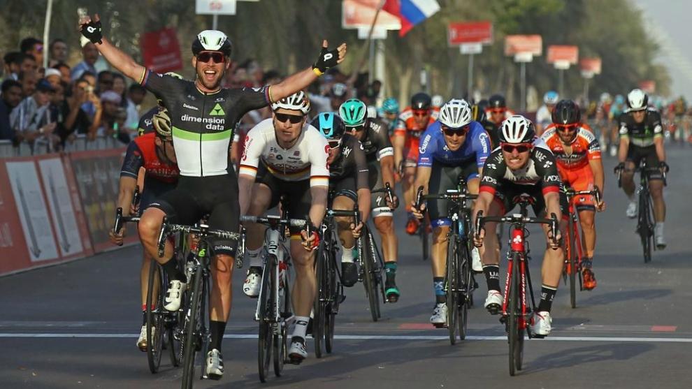 Cavendish, en su penúltima victoria hasta la fecha en el Tour de Abu...