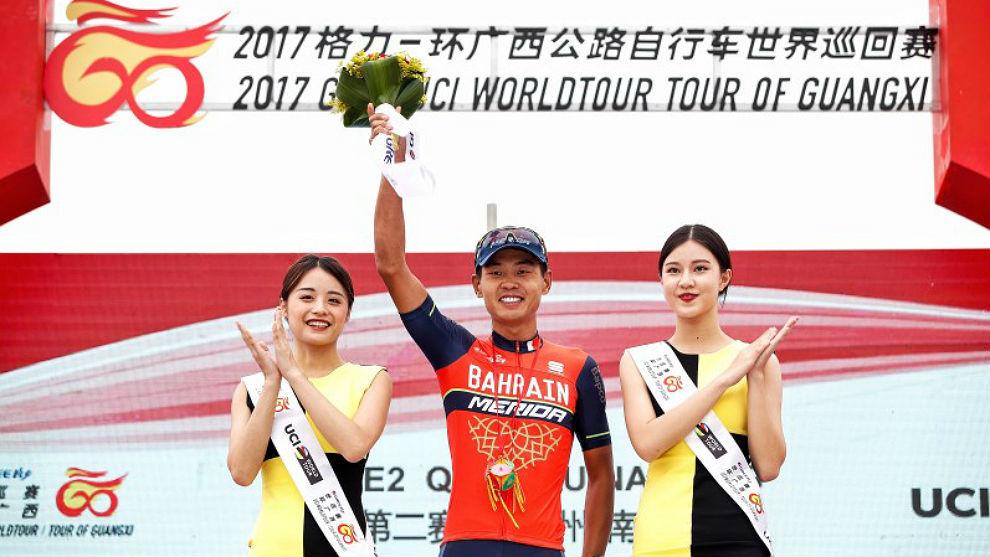 Meiyin Wang, único corredor chino en un equipo WorldTour.