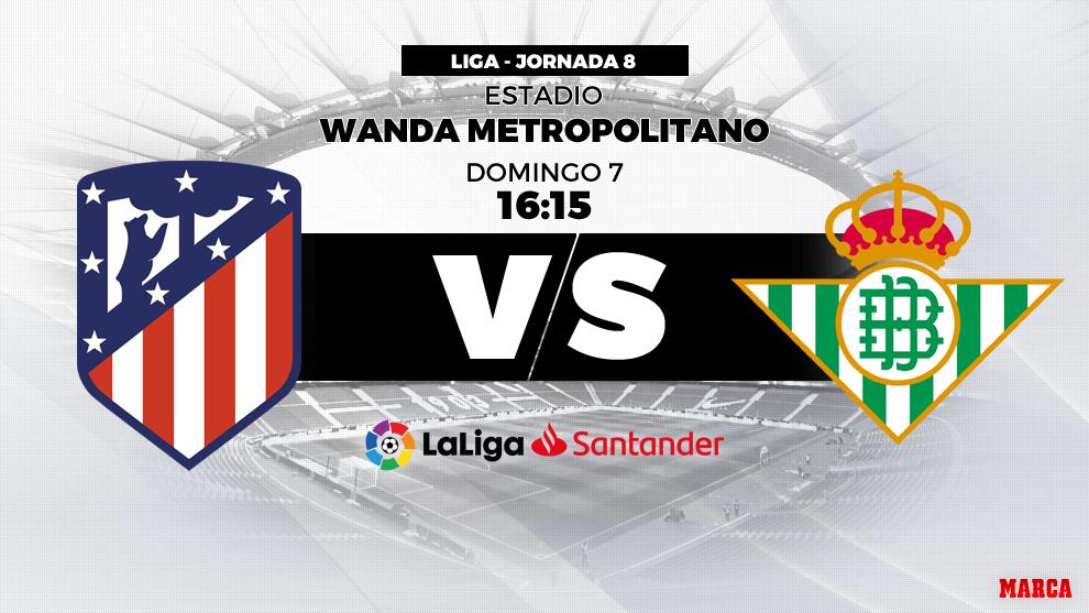 Atlético de Madrid vs Betis - 8 de octubre a las 16.15 horas