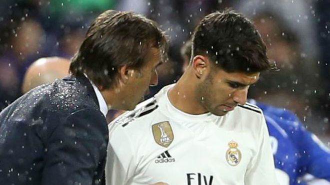Julen Lopetegui and Marco Asensio