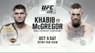 McGregor vs. Khabib, próximo 6 de octubre - UFC 229