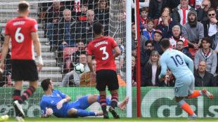 Hazard, tras marcar el primer gol del Chelsea.