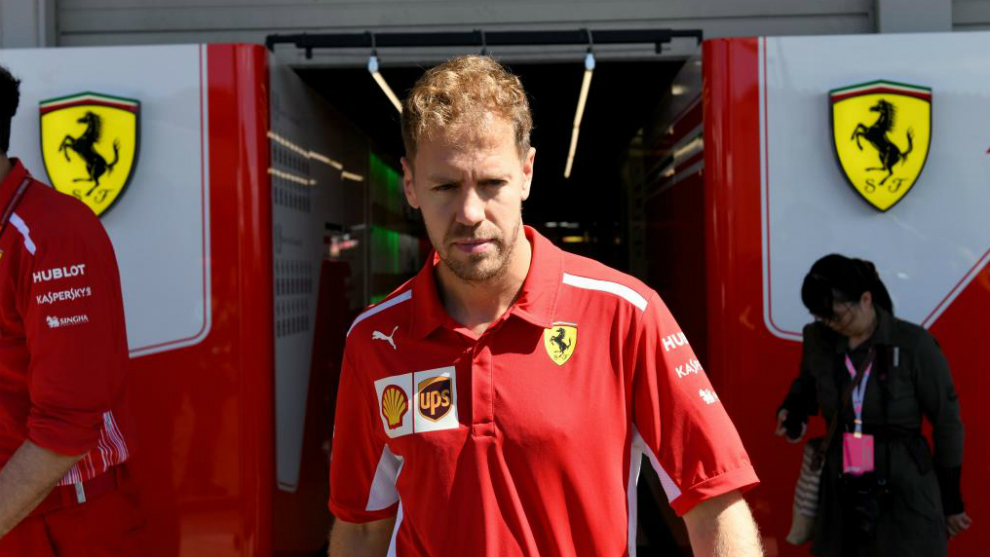 Resultado de imagen de Vettel ferrari