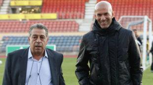 Migliaccio y Zidane.