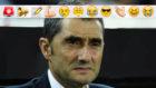 Valverde en el banquillo de Mestalla