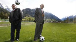 Paredes junto a Luis Aragonés en la Europa de 2008.