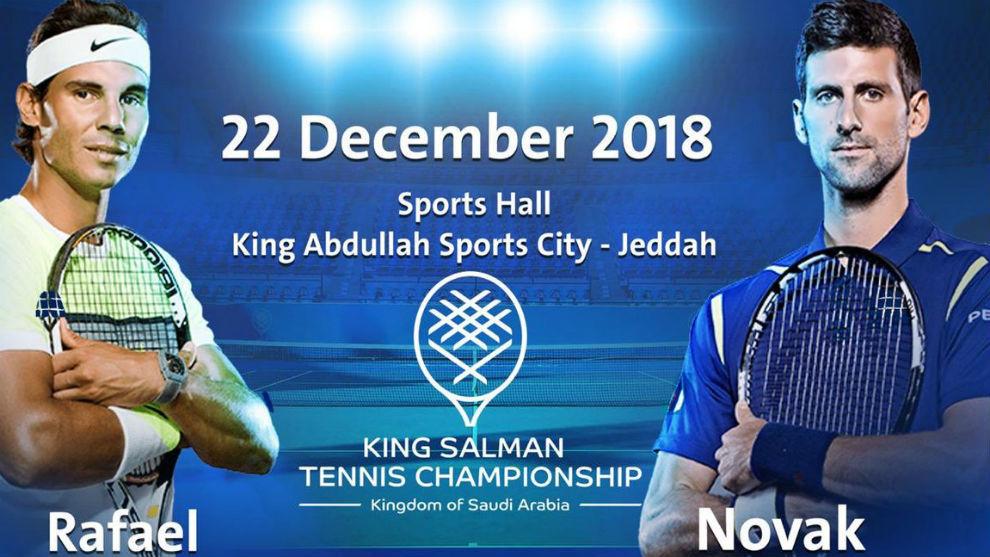 Nadal y Djokovic, en el cartel promocional