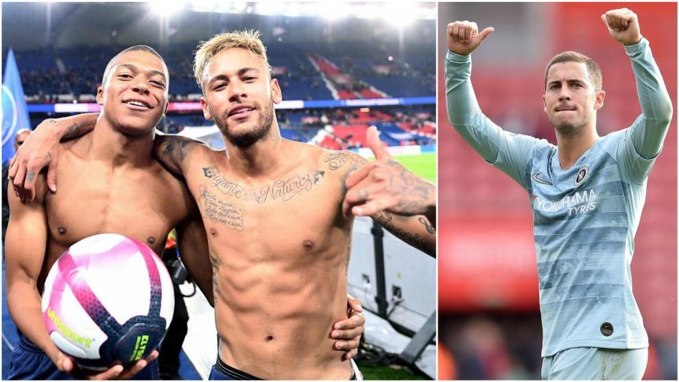 Neymar, Mbappe and Hazard