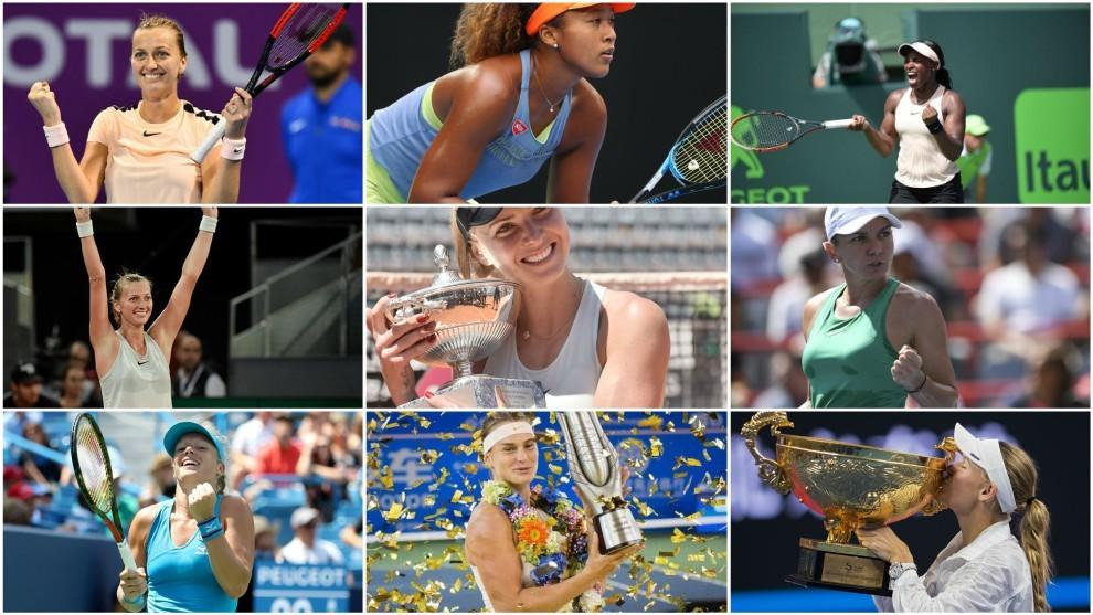 Las ocho campeonas de los torneos WTA más importantes