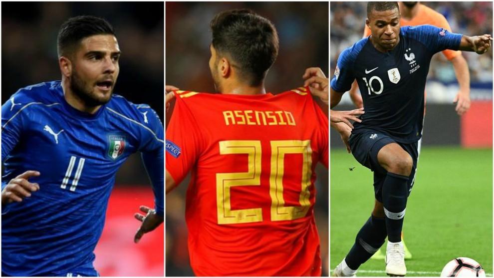 Insigne, Asensio y Mbappé serán protagonistas en la UEFA Nations...