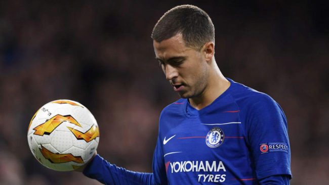 Eden Hazard, con el Chelsea.