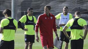 Leo Franco, durante un entrenamiento del Huesca.