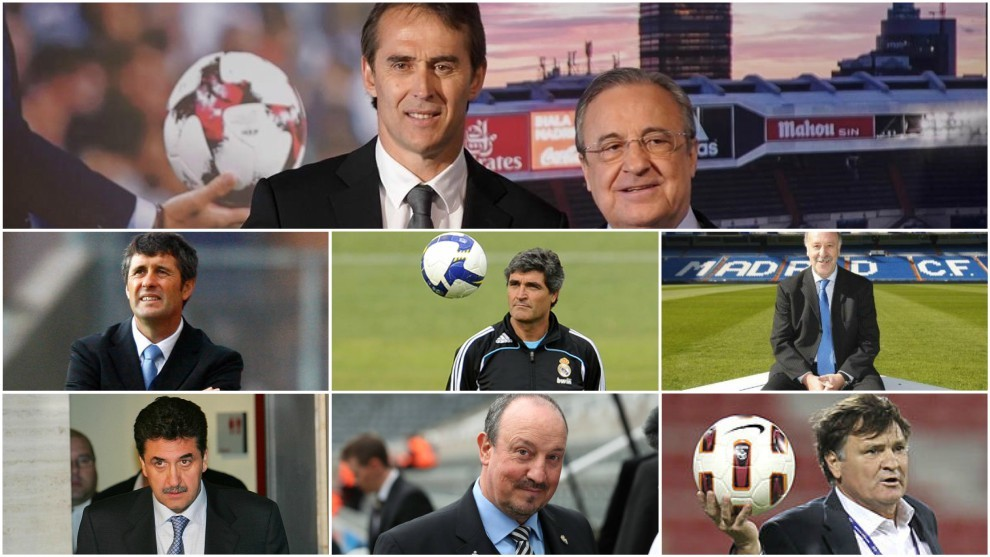 Of the 12 coaches that Perez has recruited, half have been Spanish and...
