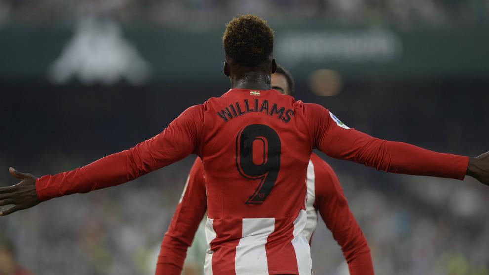 Iñaki Williams, durante un partido con el Athletic Club