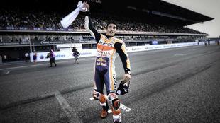 Marc Márquez, tras ganar en Tailandia.