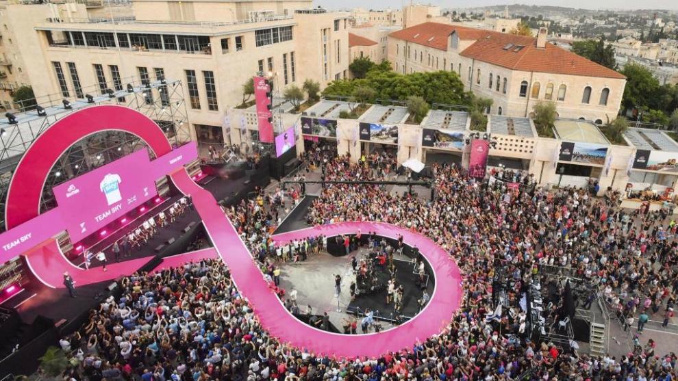 El pasado Giro de Italia partió desde Jerusalén.